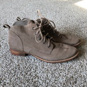 Sam Edelman Mare Leather Lace Up Booties Tan
